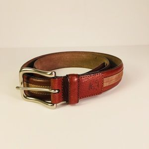 "Tommy Bahama Leather Belt 36 Two Tone 1.5"" wide"